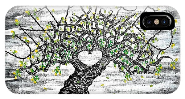 IPhone Case featuring the drawing Untapped Love Tree by Aaron Bombalicki