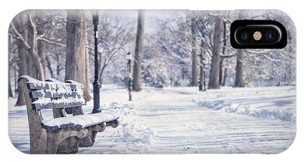 Park Bench iPhone Case - Until It Melts Away by Evelina Kremsdorf