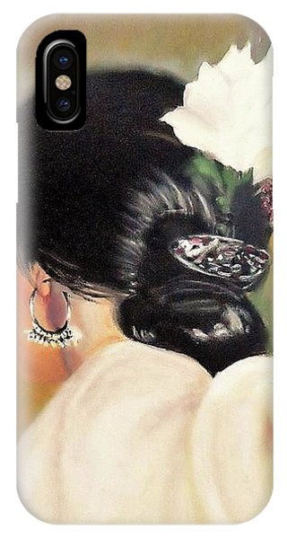 Untitled Dancer With White Flower IPhone Case