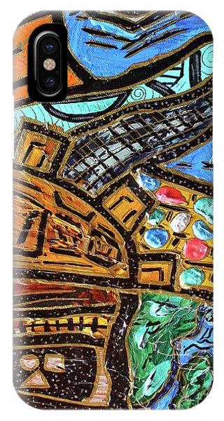 Untitled Olmec And Tehuti IPhone Case