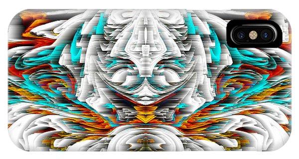 IPhone Case featuring the digital art 992.042212mirrorornategoldvert-2-c by Kris Haas