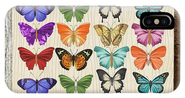 Colourful Butterflies Collage IPhone Case