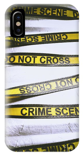 Cross iPhone X Case - Unwrapping A Murder Investigation by Jorgo Photography - Wall Art Gallery