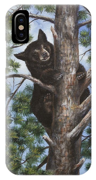 IPhone Case featuring the painting Up A Tree by Kim Lockman