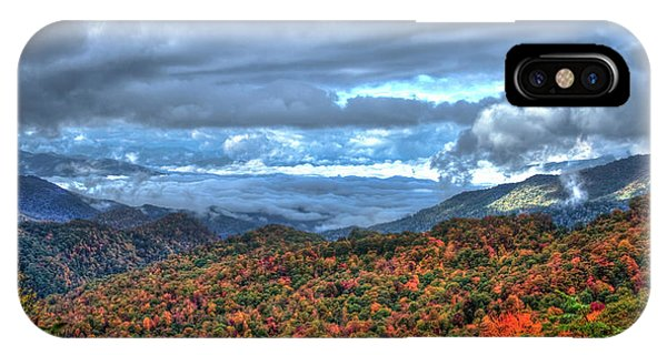 Up In The Clouds Blue Ridge Parkway Mountain Art IPhone Case