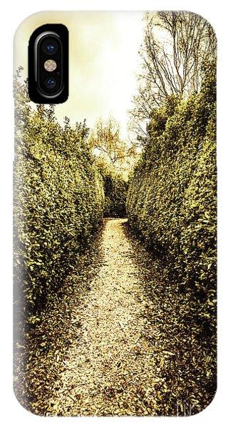 Garden Wall iPhone Case - Up The Garden Path by Jorgo Photography - Wall Art Gallery