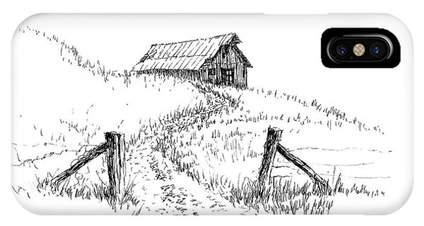 Up The Hill To The Old Barn IPhone Case