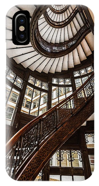 Up The Iconic Rookery Building Staircase IPhone Case