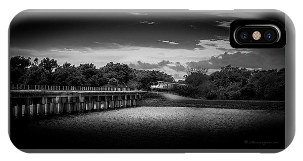 Departure iPhone Case - Up To Speed-b/w by Marvin Spates