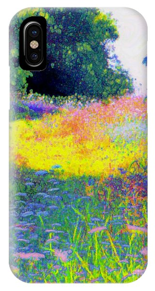 Uphill In The Meadow IPhone Case