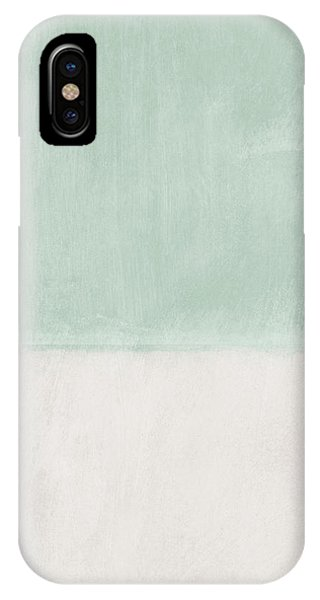 Cream iPhone Case - Upon Our Sighs 2- Abstract Art by Linda Woods