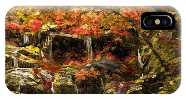 Upper Catawba Falls North Carolina IPhone Case