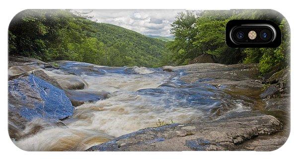 Upper Creek Waterfalls IPhone Case