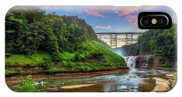 Upper Falls At Sunset IPhone Case