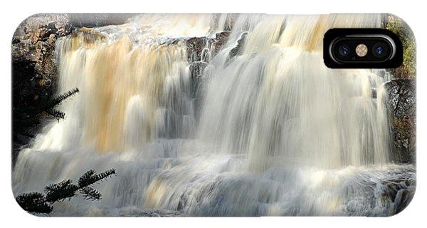 Upper Falls Gooseberry River IPhone Case
