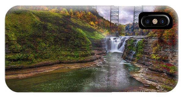 Upper Falls In Fall IPhone Case