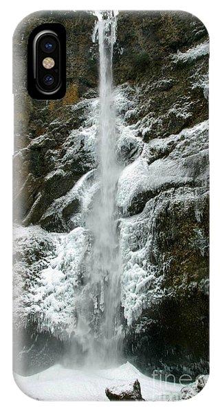 Upper Multnomah Falls Ice IPhone Case