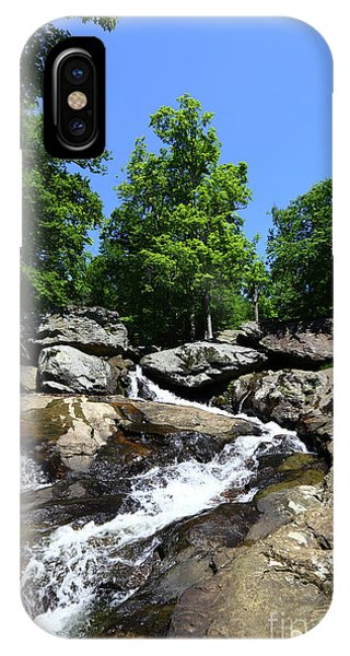 Catoctin Mountain Park iPhone Case - Upper Section Of Cunningham Falls Maryland by James Brunker