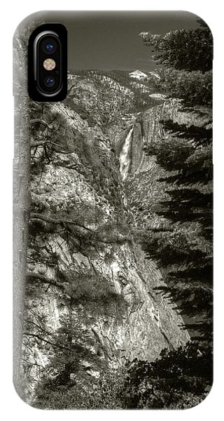 IPhone Case featuring the photograph Upper Yosemite Falls From Panorama Trail by Michael Kirk