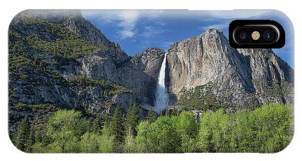 Upper Yosemite Falls In Spring IPhone Case