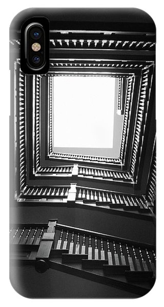 Home iPhone Case - Upstairs- Black And White Photography By Linda Woods by Linda Woods