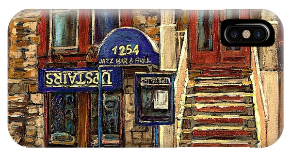Upstairs Jazz Bar And Grill Montreal IPhone Case
