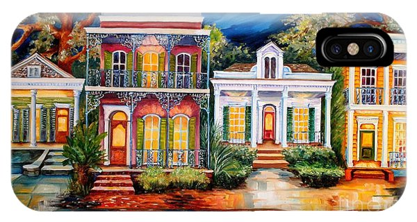 Neighborhood iPhone Case - Uptown In The Moonlight by Diane Millsap