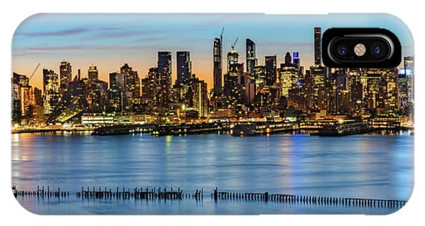 IPhone Case featuring the photograph Uptown Skyline At Sunrise by Francisco Gomez