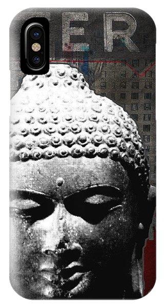 Zen iPhone Case - Urban Buddha 4- Art By Linda Woods by Linda Woods