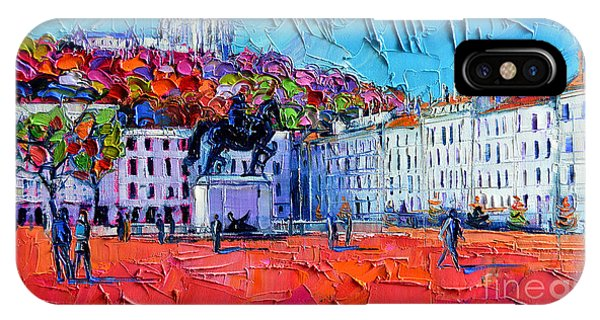 Urban Impression - Bellecour Square In Lyon France IPhone Case