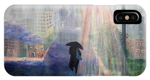 IPhone Case featuring the painting Urban Life by Saundra Johnson