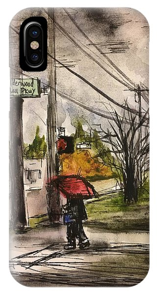 Rainy Day iPhone Case - Urban Sketching by Thao Le