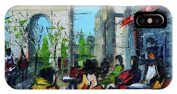 Avenue iPhone Case - Urban Story - Champs Elysees by Mona Edulesco