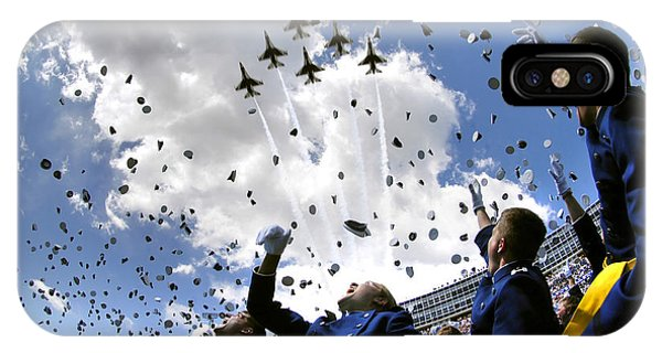 U.s. Air Force Academy Graduates Throw IPhone Case