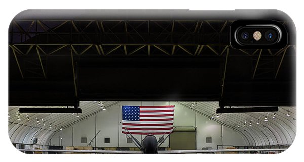 Us Air Force Eq 4 Global Hawk Assigned To The 380th Air Expeditionary Wing Await Routine Maintenance IPhone Case