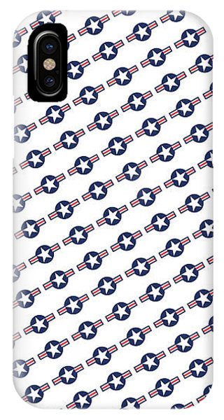 Us Airforce Style Insignia Pattern Diag Version IPhone Case