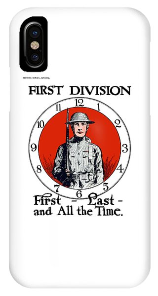Wwi iPhone Case - Us Army First Division - Ww1 by War Is Hell Store