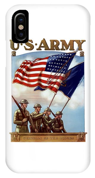 Political iPhone Case - Us Army -- Guardian Of The Colors by War Is Hell Store