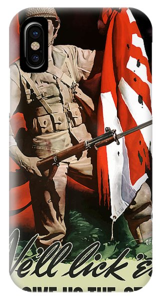 Army iPhone Case - Us Army -- World War Two Propaganda by War Is Hell Store