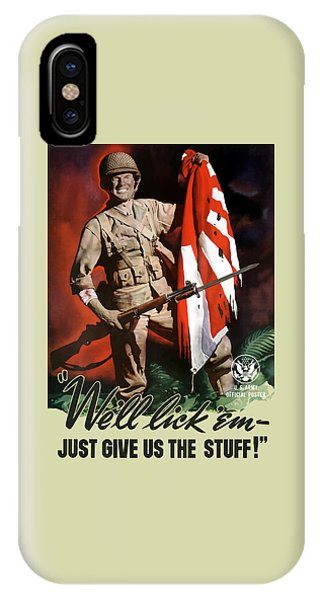 World War Two iPhone Case - Us Army -- World War Two Propaganda by War Is Hell Store
