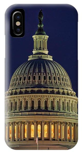 U.s. Capitol At Night IPhone Case