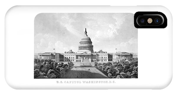 Capitol Building iPhone Case - Us Capitol Building - Washington Dc by War Is Hell Store