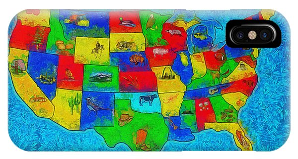 Capitalism iPhone Case - Us Map With Theme  - Special Finishing -  - Da by Leonardo Digenio