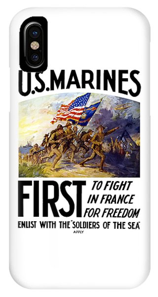 Us Marines - First To Fight In France IPhone Case