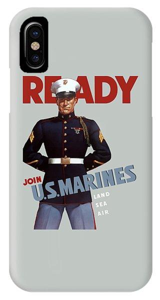 Us Marines - Ready IPhone Case