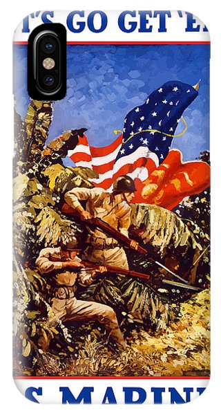 Jungle iPhone Case - Us Marines - Ww2  by War Is Hell Store