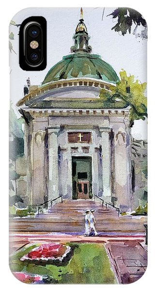 Naval Academy iPhone Case - Us Naval Academy Chapel by Spencer Meagher