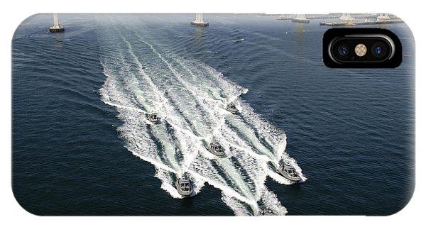 Coronado iPhone Case - U.s. Navy Patrol Boats Conduct by Stocktrek Images