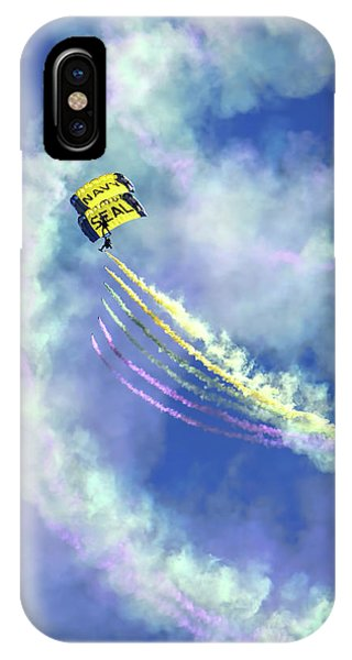 Us Navy Seals Colorful Parachute Jump IPhone Case
