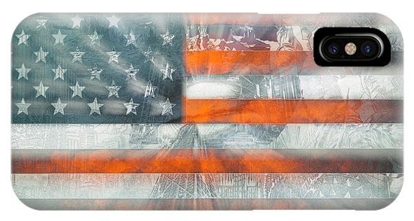 July 4 iPhone Case - Usa Flag 10 by Bekim Art